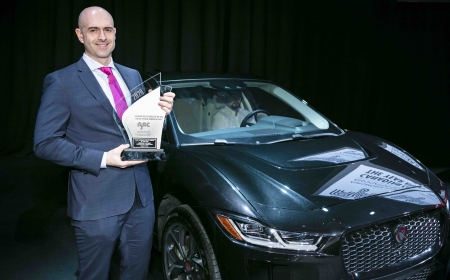 The Jaguar I-PACE, 2020 AJAC Canadian Utility Vehicle of the Year, at the 2020 Canadian International AutoShow in Toronto, Ontario.