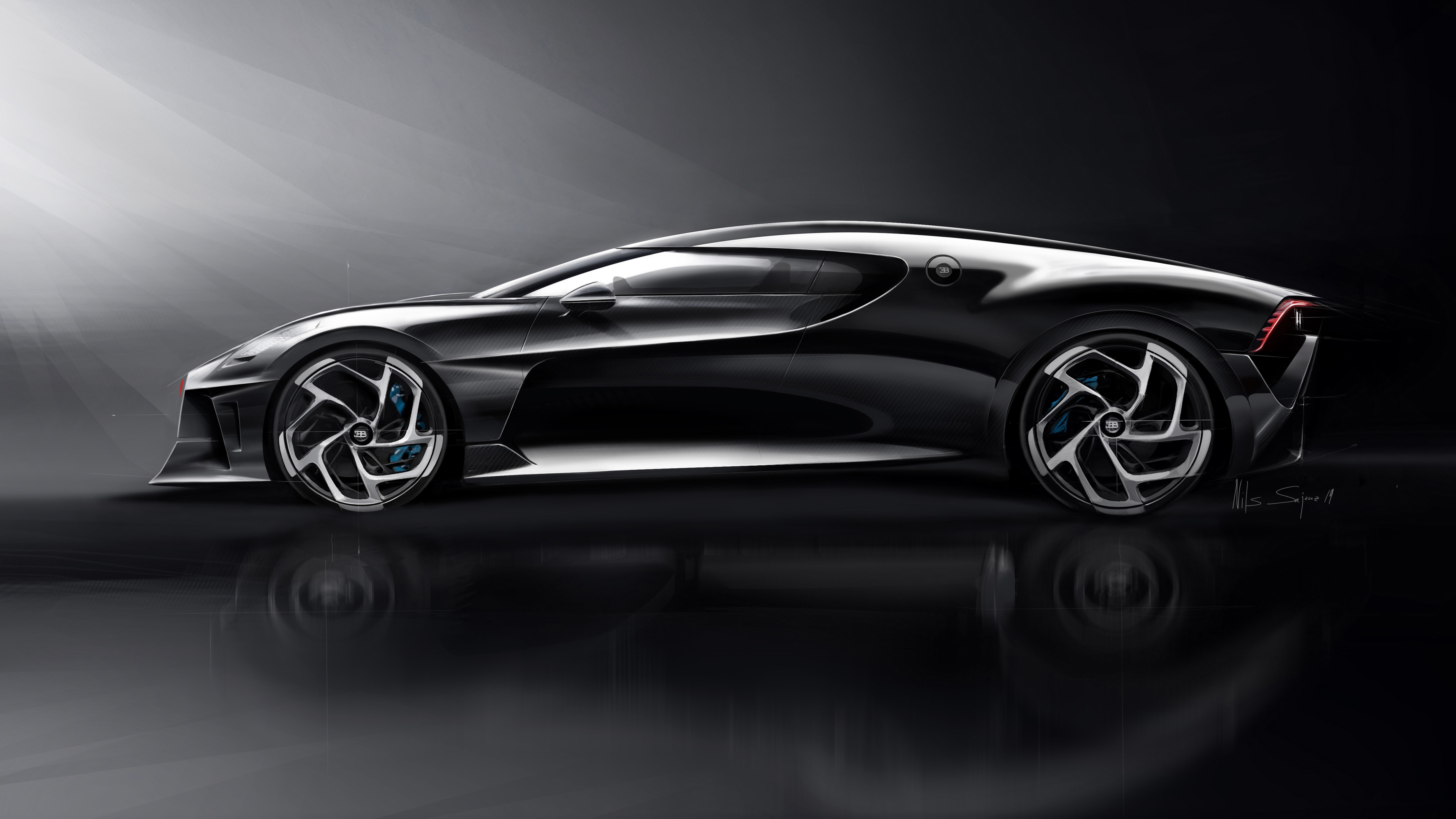 2019 Bugatti La Voiture Noire Sketches By Etienne Gallery: THE WORLD'S MOST EXCLUSIVE BUGATTI
