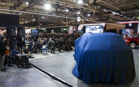Volkswagen during Media Day at the 2020 Canadian International AutoShow in Toronto, Ontario.